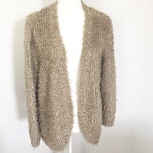 Kensie Oatmeal shaggy open cardigan